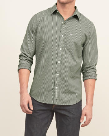 Mens A&F Striped Shirt