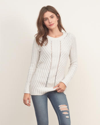 Womens Mixed Stitch Sweater