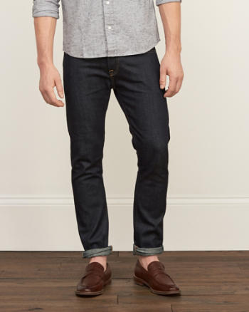 Mens Selvedge Straight Raw Jeans
