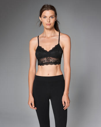 Womens Lace Strappy Bralette