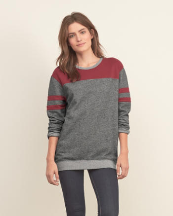 Womens Colorblock Crew Sweatshirt