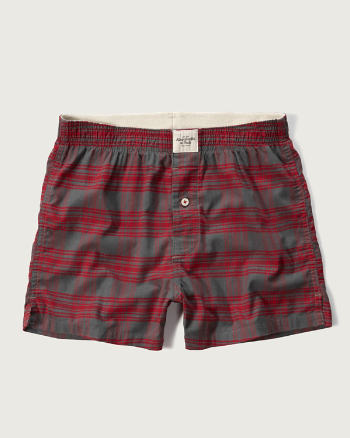 Mens A&F Woven Boxers