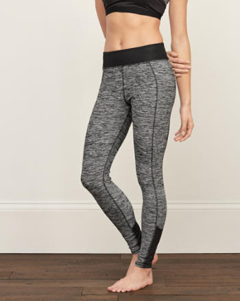 Womens A&F Contrast-Panel Leggings