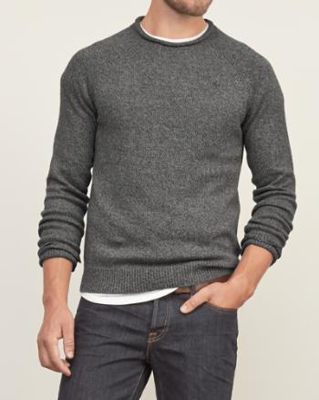 Mens Iconic Rib-trim Sweater