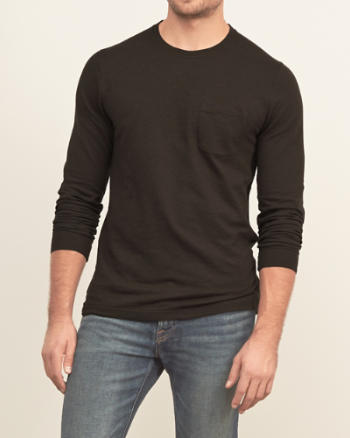 Mens Textured Pocket Tee