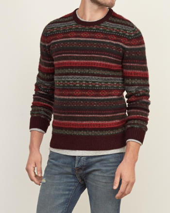 Mens Wool Fair Isle Sweater
