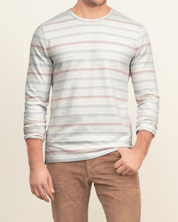 Mens Stripe Herringbone Tee