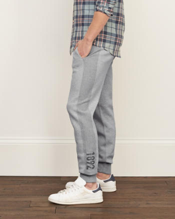 Mens A&F Side Tape Joggers