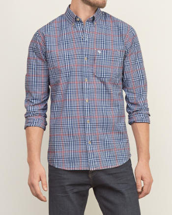 Mens Iconic Plaid Shirt