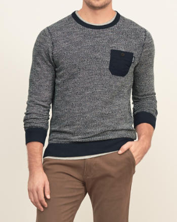 Mens Textured Pocket Sweatshirt