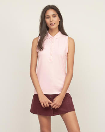 Womens Iconic Sleeveless Polo