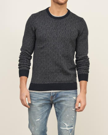 Mens Geo Pattern Sweater