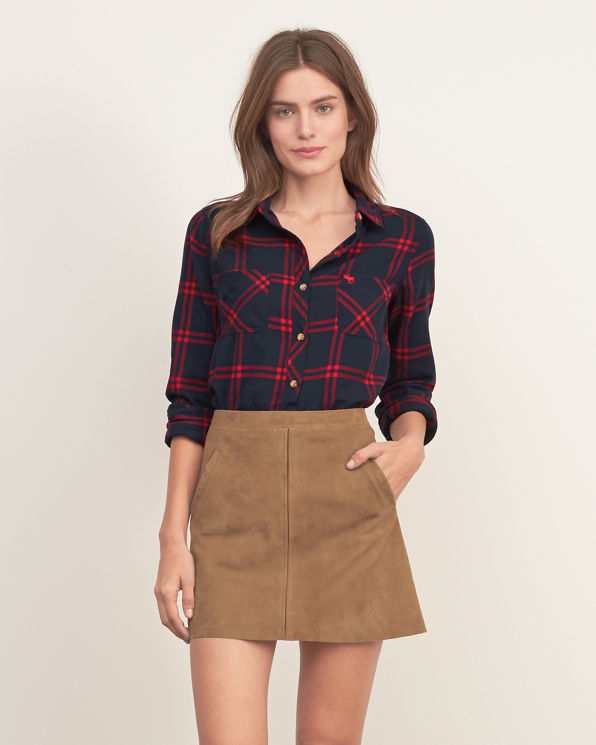 Womens plaid flannel shirt womens new arrivals for Womens plaid flannel shirts