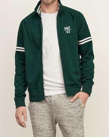 Mens Logo Graphic Track Jacket