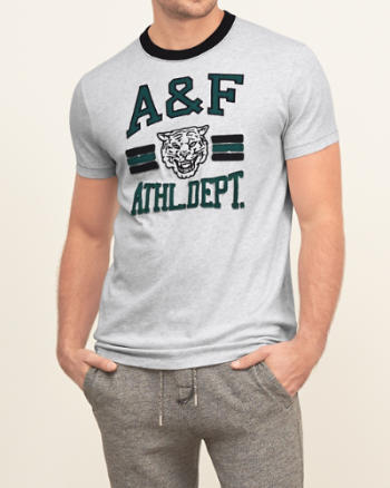 Mens Applique Logo Graphic Tee