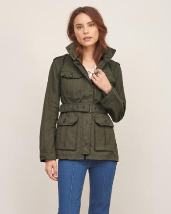 Womens Lightweight Military Parka