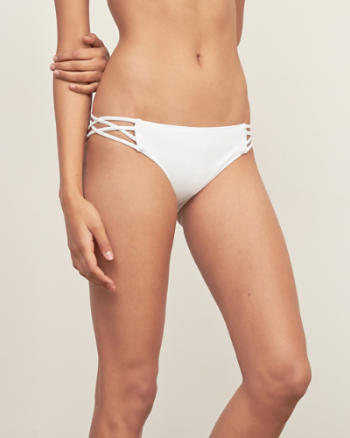 Womens Strappy Side Bikini Bottom