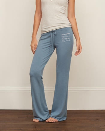 Womens A&F Flare Graphic Sweatpants