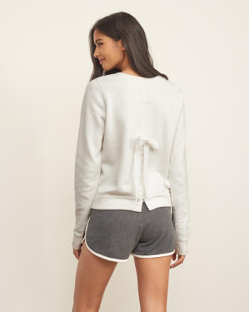 Womens Lace-up Back Sweatshirt
