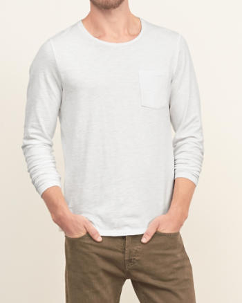 Mens Open Neck Pocket Tee