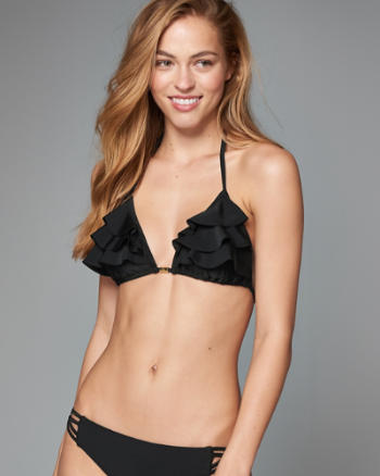 Womens Ruffle Triangle Swim Top