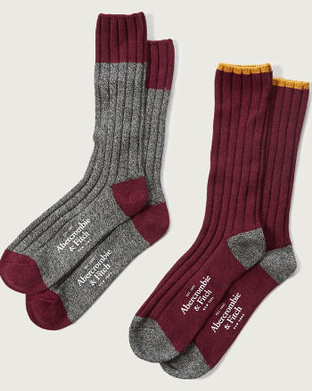 Mens A&F Ribbed Camp Socks