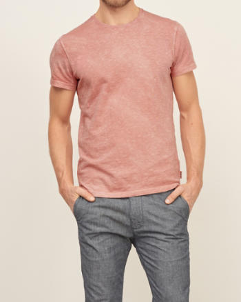 Mens A&F True Garment Dyed Tee
