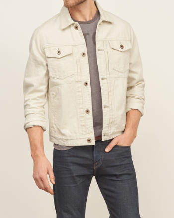 Mens Seeded Natural Denim Jacket