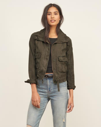 Womens Military Twill Jacket