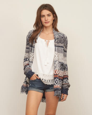 Womens Tapestry Cardigan