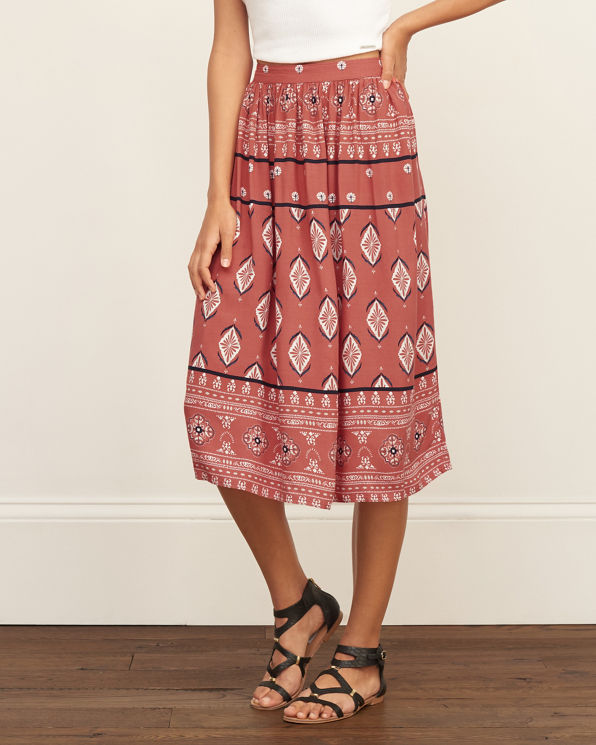 womens patterned midi skirt womens exclusives