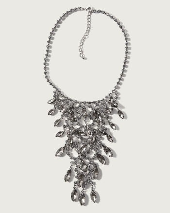 Womens Embellished Statement Necklace