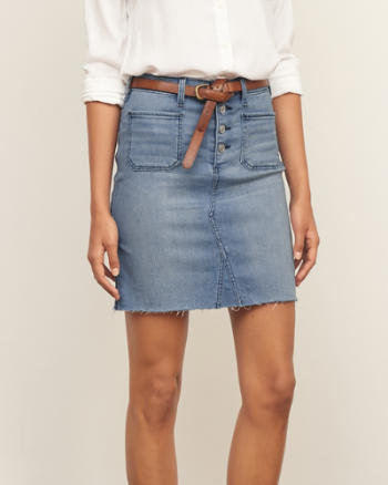 Womens Denim Mini Skirt