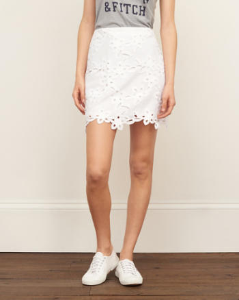 Womens Lace A-Line Skirt