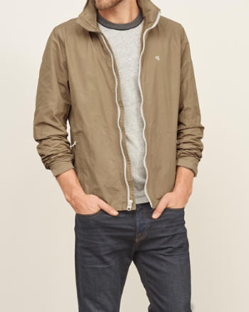 Mens Convertible-Hood Shell Jacket