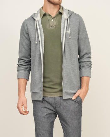 Mens Iconic Lightweight Full-Zip Hoodie