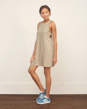 Womens Crepe Swing Dress