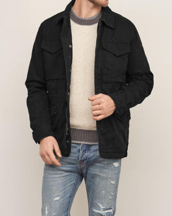 Mens Twill Military Jacket