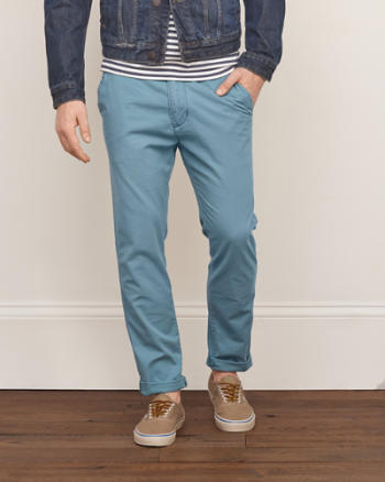 Mens A&F Classic Taper Chinos
