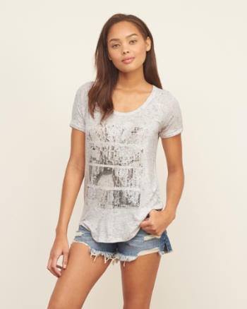 Womens Drapey Graphic Tee