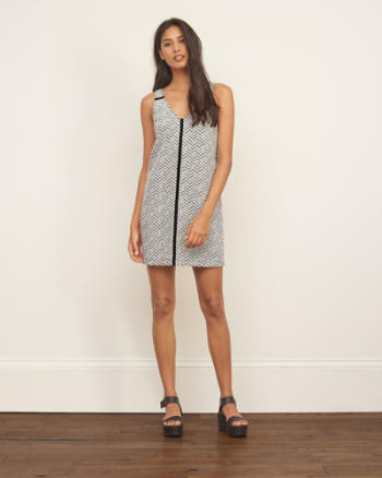 Womens Textured Shift Dress