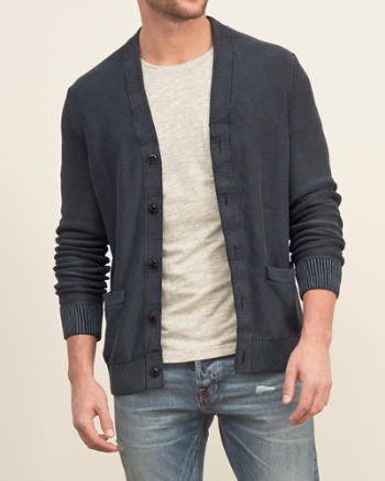 Mens Basic Cardigan Sweater