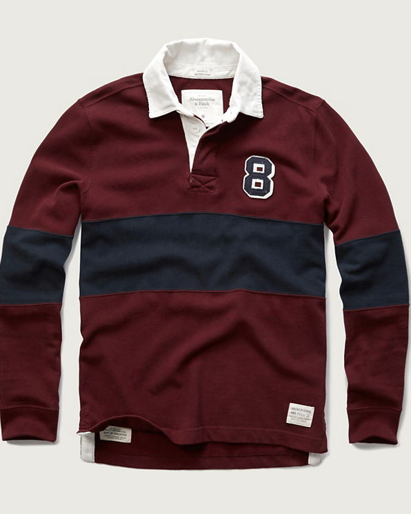 Mens Long Sleeve Rugby Polo