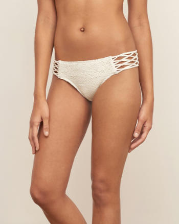 Womens Macrame Side Lace Swim Bottom