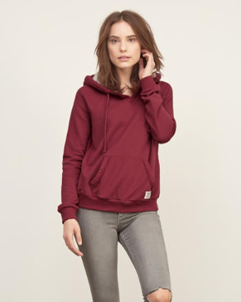 Womens Sherpa-lined Hood Sweatshirt