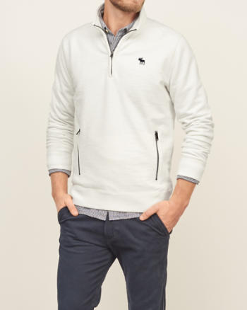 Mens Mock Neck Sweatshirt