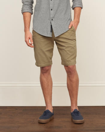 Mens A&F Classic Fit Stretch Shorts