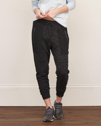 Womens Zip Pocket Joggers