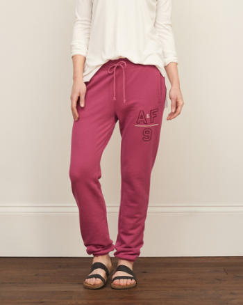Womens Banded Fleece Sweatpants