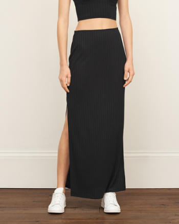 Womens Slim Knit Maxi Skirt